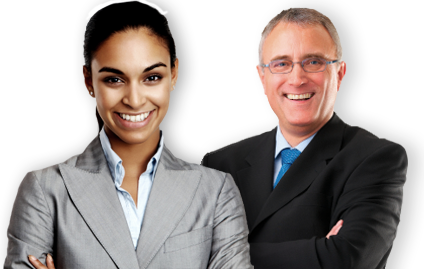 image of business woman and man